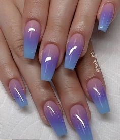 Newest Nail Designs-27 Ombre coffin nails