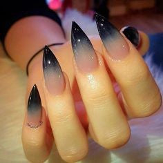 Newest Nail Designs-38 Ombre stiletto nails