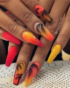 Newest Nail Designs-40 Summer stiletto nails