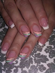 Newest Nail Designs-45 Colorful French nails