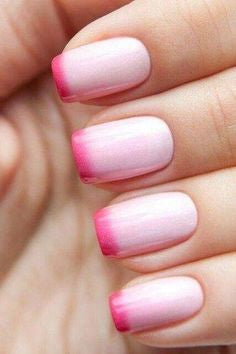 Newest Nail Designs-47 Pink French nails