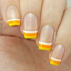 Newest Nail Designs-49 Yellow French nails