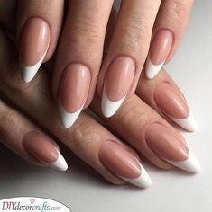 Newest Nail Designs-50 Oval French nails