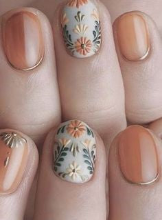 Newest Nail Designs-51 3D flower sticker nails