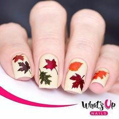 Newest Nail Designs-55 fall Water decals nails