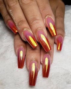 Newest Nail Designs-59 Flame Metallic nails