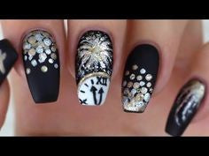 New Year bells Nail Design