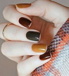Colorful Natural Nail Design