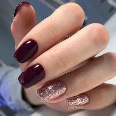 Rose gold nail design