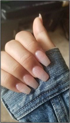 Barely decorated nude nails