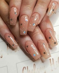 Super Star Sequins Nail Design