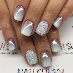 White Nature Nail Design