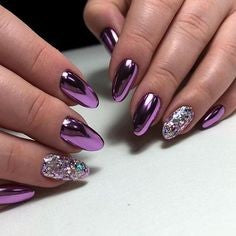 Purple metal Nail Design