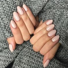 Nude Oval Nail Design