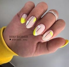 Abstract Oval Nail Design
