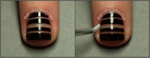 Simple Striped Tape Nail Tutorial2