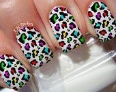 Colorful Leopard Nail Design