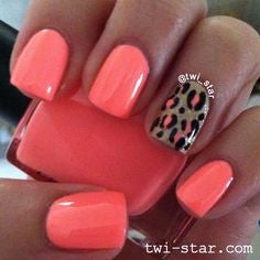 Pink Leopard Nail Design