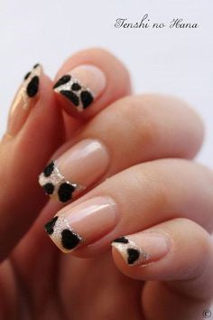 French Leopard Nail Design