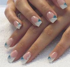 White French Tip Nail Design-10