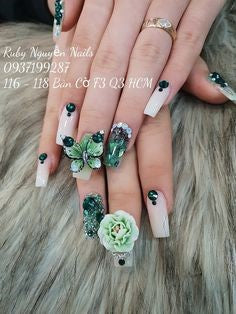 3D Butterfly decorations Nails
