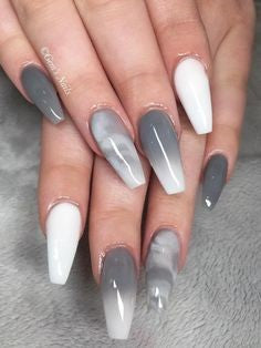 Ombre Grey nail design