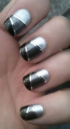 3-colors nail design