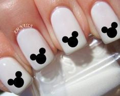 Simple Mickey Nail Design