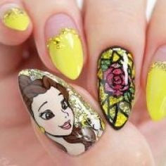 Beauty and the Beast Nail Design