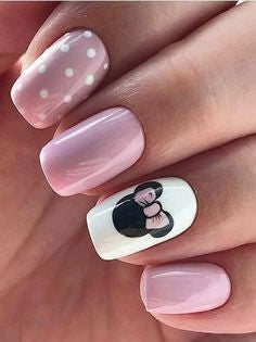 Pink Minnie Nail Design