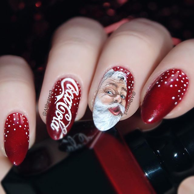 hottest 50 christmas nail ideas for 2017 48 - Red Christmas Nails