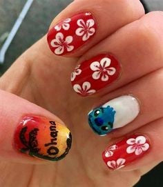 Lilo & Stitch Nail Design