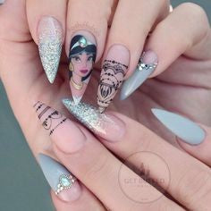 Princess Jasmine Nail Design