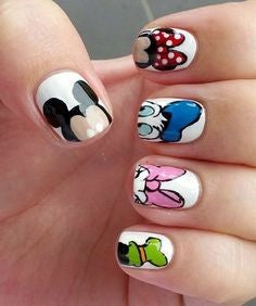 Mickey Mouse Head Nail Design