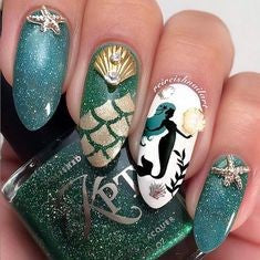 Mermaid Princess Nail Design