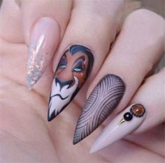 The Lion King Nail Design