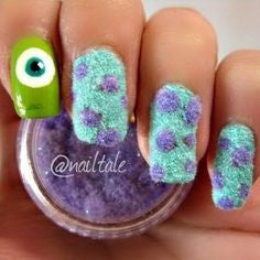 Monsters, inc Nail Design
