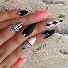 Aztec Almond Nail Design