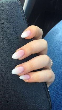 Nude Almond Nail Design