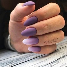 Purple Almond Nail Design