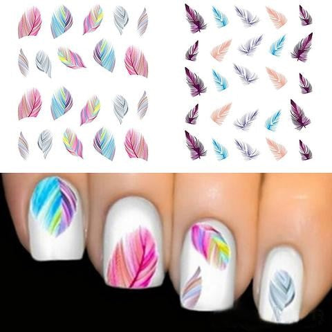 Feather Nail Water Decals