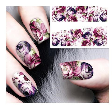 Floral Water Decals For Manicure