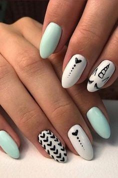 Cute summer unicorn nail idea