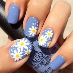 Summer Flower Nail Color Idea