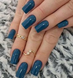 Summer Navy Nail Color Idea
