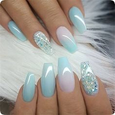 Summer Light blue Nail Color Idea