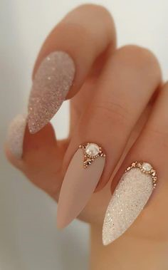 Nude Summer Nail Color Idea