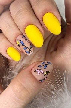 Yellow Summer Nail Color Idea