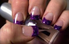 French purple nails