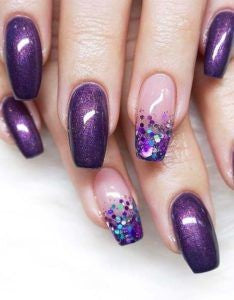 Metallic purple nails